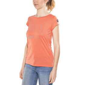 super.natural Graphic Tee 140 - Camiseta manga corta Mujer - naranja